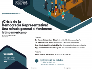 Seminario internacional ¿crisis de ma Democracia Representativa? Una mirada general al fenómeno latinoamericano