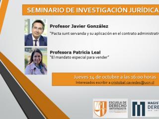 Docentes participarán nuevo seminario de investigación jurídica