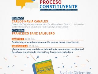 Carlos Navia Canales expondrá en las Conferencias por un Proceso Constituyente en Antofagasta