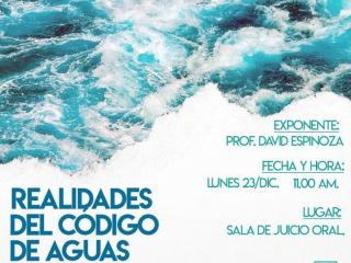 Profesor David Espinoza expondrá sobre Derecho de Aguas en Antofagasta